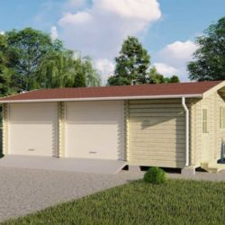 Комплект гаража Мини-3 из профилированного минибруса 8.2х5.6 м