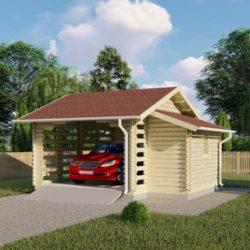 Комплект гаража Мини-6 из профилированного минибруса 5.5х5.4 м