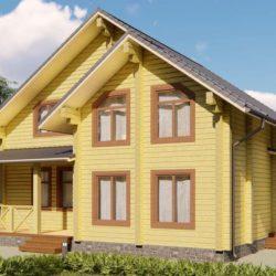 """Домокомплект дома """"Истра"""" из профилированного бруса 9,5х10,5 2 этаж"""