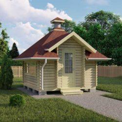 Домокомплект садового дома Мини-3 из профилированного минибруса 3.0х3.8 м