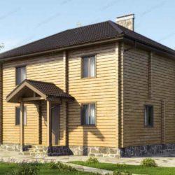 """Домокомплект дома """"Усадище"""" из профилированного бруса 9x6,4, 2 этажа"""