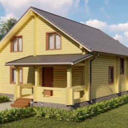 """Домокомплект дома из профилированного бруса """"Давос"""" 12,5x8,5 2 этажа"""