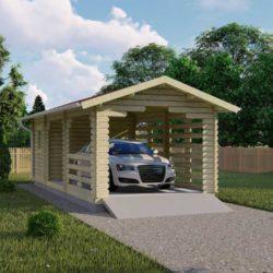 Комплект гаража Мини-5 из профилированного минибруса 8х3.5 м