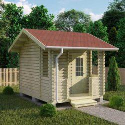 Домокомплект садового дома Мини-1 из профилированного минибруса 4.0х3.5 м