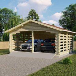 Комплект гаража Мини-2 из профилированного минибруса 6х5.5 м
