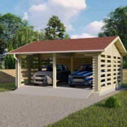 Комплект гаража Мини-8 из профилированного минибруса 6х5.5 м