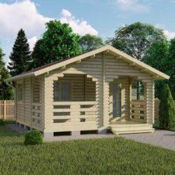 Домокомплект садового дома Мини-26 из профилированного минибруса 5,5x5,8 м
