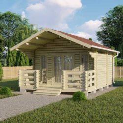 Домокомплект садового дома Мини-20 из профилированного минибруса 4,5x6 м
