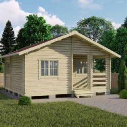 Домокомплект садового дома Мини-27 из профилированного минибруса 5,5x6 м