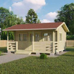 Домокомплект садового дома Мини-25 из профилированного минибруса 5,8x5,4 м