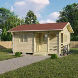 Домокомплект садового дома Мини-19 из профилированного минибруса 4,5x6 м