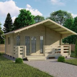 Домокомплект садового дома Мини-28 из профилированного минибруса 5,8x6 м
