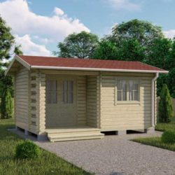 Домокомплект садового дома Мини-18 из профилированного минибруса 3,9x5,4 м