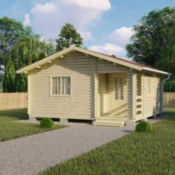 Домокомплект садового дома Мини-33 из профилированного минибруса 6x6 м