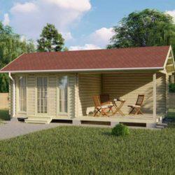 Домокомплект садового дома Мини-24 из профилированного минибруса 7,8x4 м