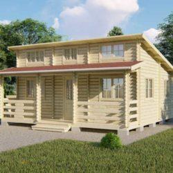 Домокомплект садового дома Мини-38 из профилированного минибруса 6,8x7 м