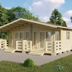 Домокомплект садового дома Мини-37 из профилированного минибруса 5,3x7,6 м