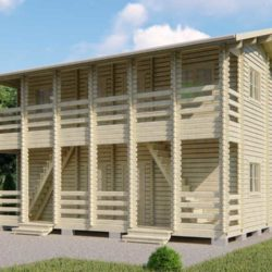 Домокомплект садового дома Мини-35 из профилированного минибруса 6x9 м