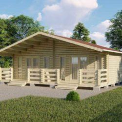 Домокомплект садового дома дуплекс Мини-36 из профилированного минибруса 6x9 м